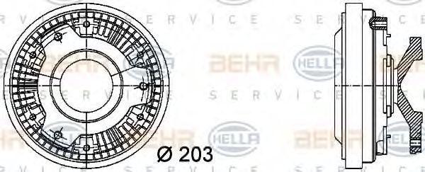 Вискомуфта HELLA 8MV 376 731-421