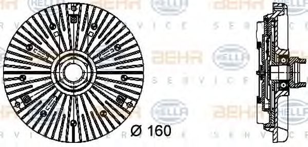 Вискомуфта HELLA 8MV376732031