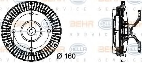 Вискомуфта HELLA 8MV 376 732-051