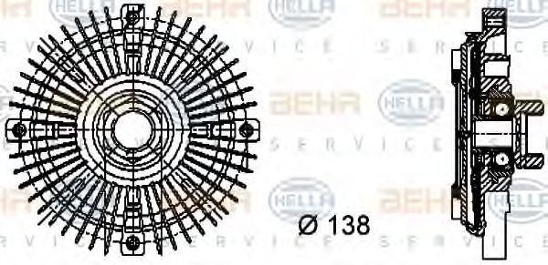 Вискомуфта HELLA 8MV376732-211