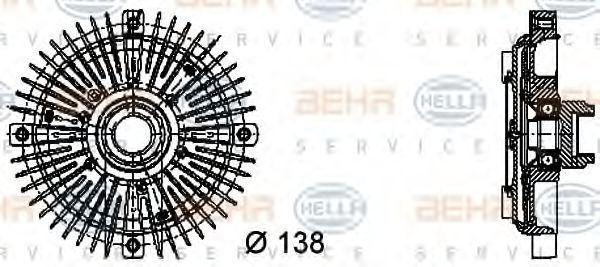 Вискомуфта HELLA 8MV376732231