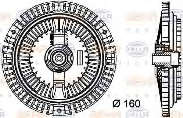 Віскомуфта HELLA 8MV376732-351