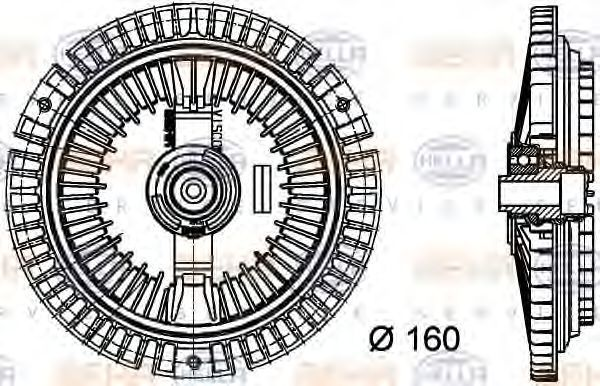 Вискомуфта HELLA 8MV376732351