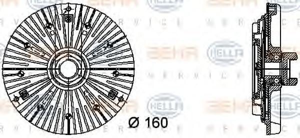 Вискомуфта HELLA 8MV376732401