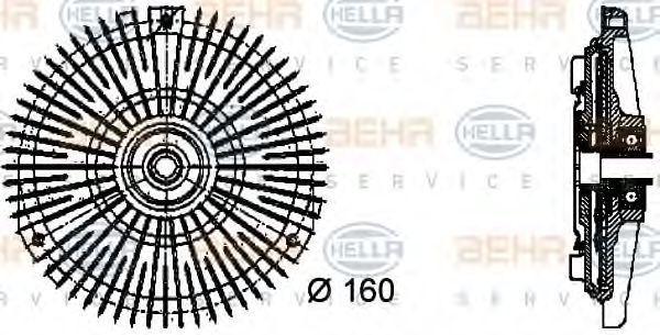 Сцепление, вентилятор радиатора HELLA 8MV376732451
