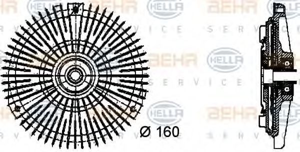 Вискомуфта HELLA 8MV 376 732-451