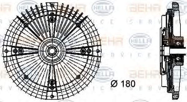 Сцепление, вентилятор радиатора HELLA 8MV376732461