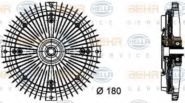Вискомуфта HELLA 8MV 376 732-481