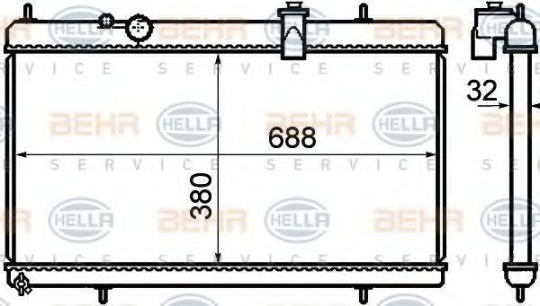 Радиатор охлаждения HELLA 8MK 376 732-751