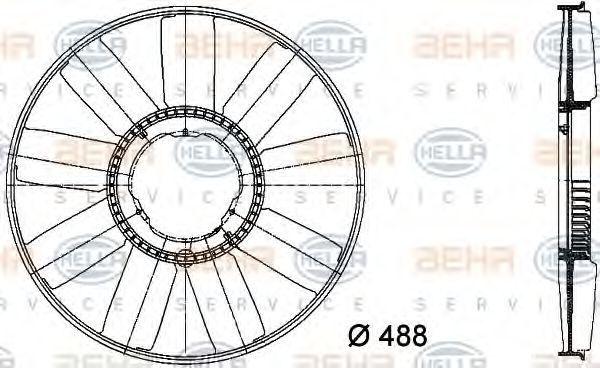Крыльчатка вентилятора охлаждения двигателя HELLA 8MV 376 733-211