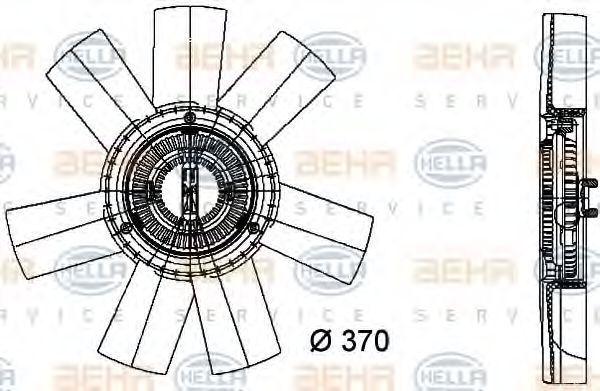 Вискомуфта HELLA 8MV 376 733-361