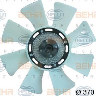 Вентилятор, охлаждение двигателя HELLA 8MV376734241