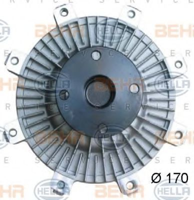 Сцепление, вентилятор радиатора HELLA 8MV376734251
