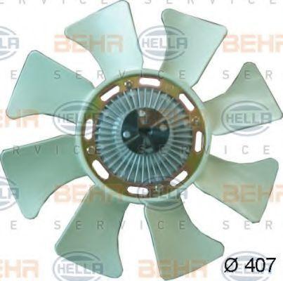 Вентилятор, охлаждение двигателя HELLA 8MV376734311