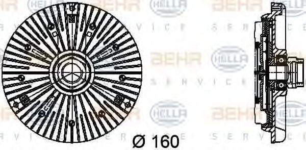 Крыльчатка вентилятора охлаждения HELLA 8MV 376 734-451