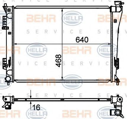 Радиатор охлаждения HELLA 8MK376735251