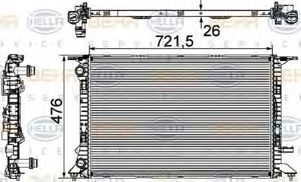 Радиатор охлаждения HELLA 8MK376745581