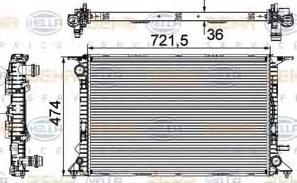 Радиатор охлаждения HELLA 8MK376745644
