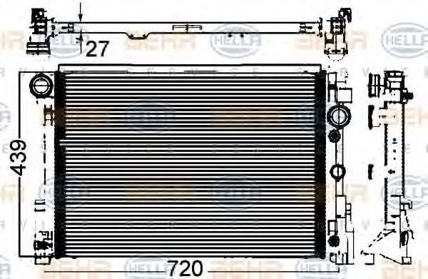 Радиатор охлаждения HELLA 8MK376749551