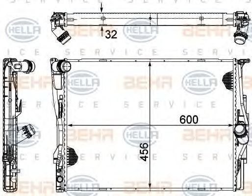 Радиатор охлаждения HELLA 8MK 376 754-071