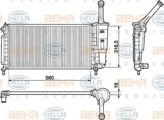 Радиатор охлаждения HELLA 8MK 376 754-384