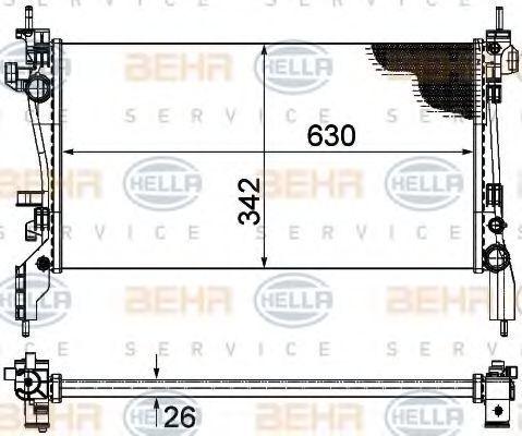 Радиатор охлаждения HELLA 8MK376754564