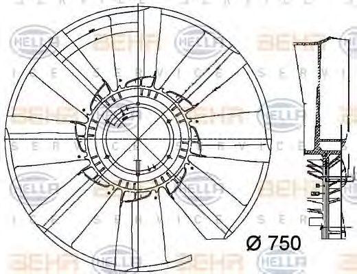 Радиатор охлаждения HELLA 8MV 376 756-081