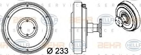 Сцепление, вентилятор радиатора HELLA 8MV376757091