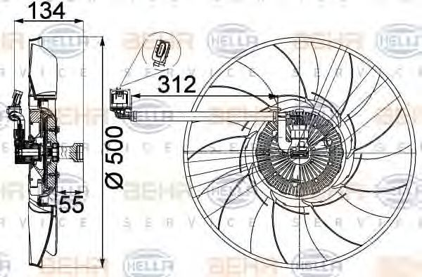 Вентилятор охлаждения двигателя HELLA 8MV 376 757-301