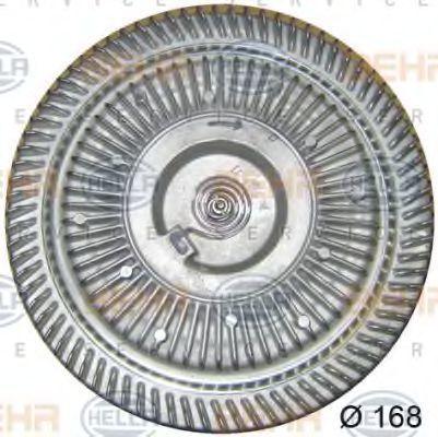 Сцепление, вентилятор радиатора HELLA 8MV376757641