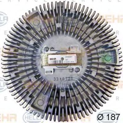 Сцепление, вентилятор радиатора HELLA 8MV376757701