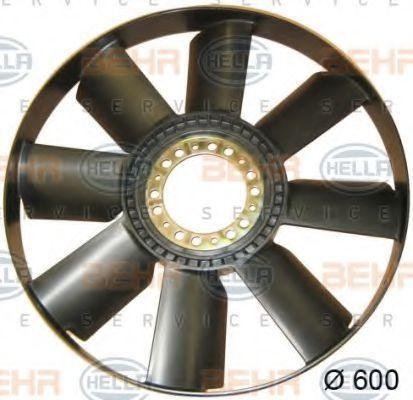 Крыльчатка вентилятора, охлаждение двигателя HELLA 8MV376757751