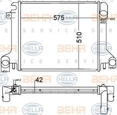 Радиатор охлаждения HELLA 8MK376758021