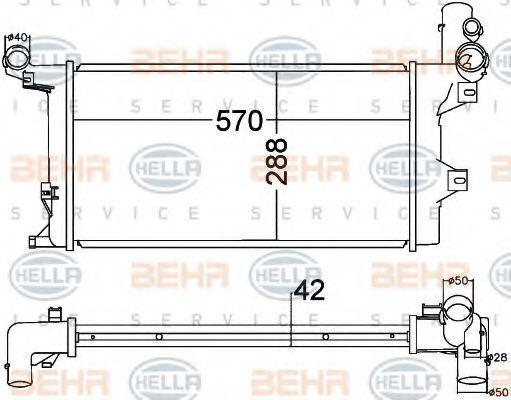 Радиатор охлаждения HELLA 8MK376758031