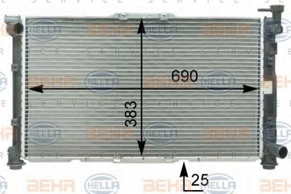 Радиатор охлаждения HELLA 8MK376763461