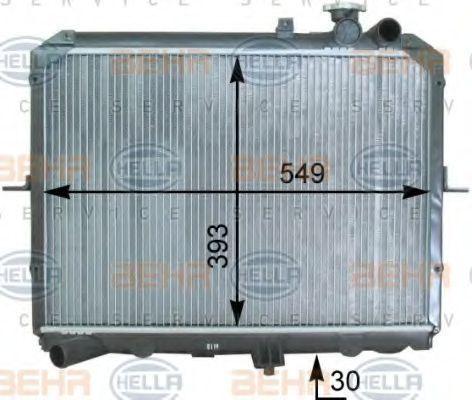 Радиатор, охлаждение двигателя HELLA 8MK376763641