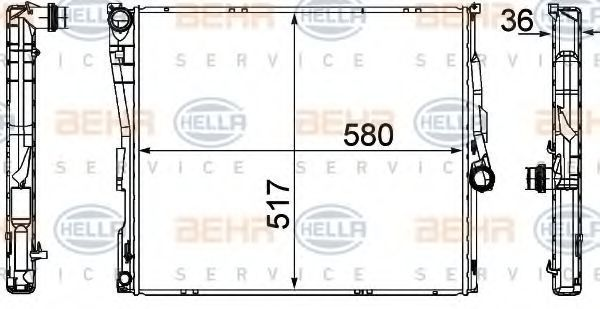 Радиатор охлаждения HELLA 8MK 376 764-771