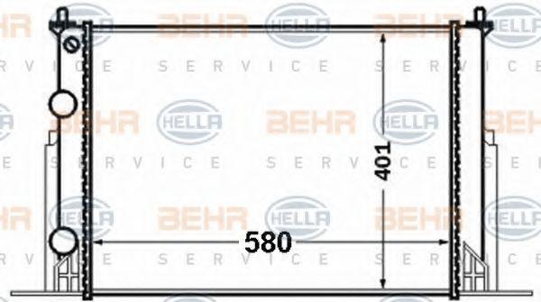 Радиатор охлаждения HELLA 8MK 376 767-731