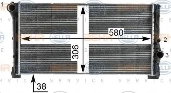 Радиатор охлаждения HELLA 8MK376900264