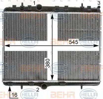 Радиатор охлаждения HELLA 8MK376900311