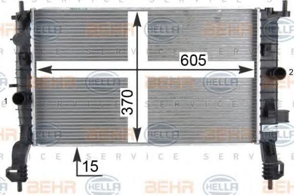 Радиатор охлаждения HELLA 8MK376910284