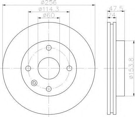 Тормозной диск HELLA 8DD355111351