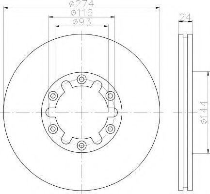Тормозной диск HELLA 8DD355111741