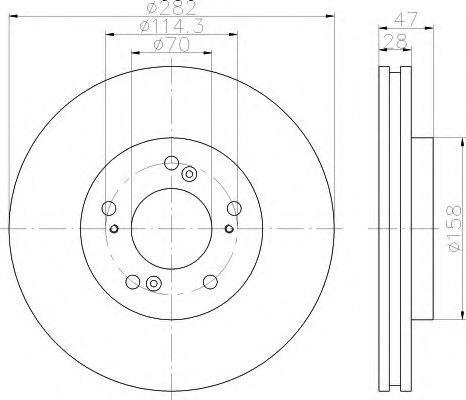 Тормозной диск HELLA 8DD355112021