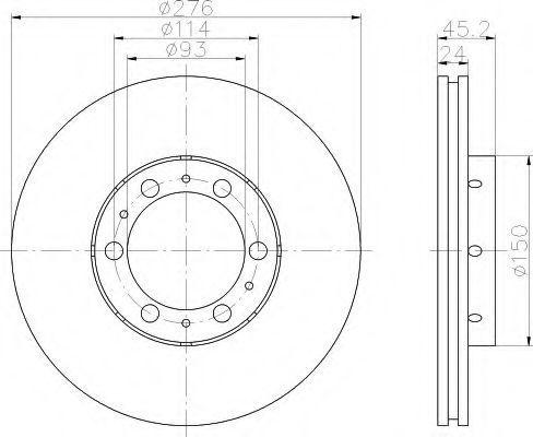 Тормозной диск HELLA 8DD355108521