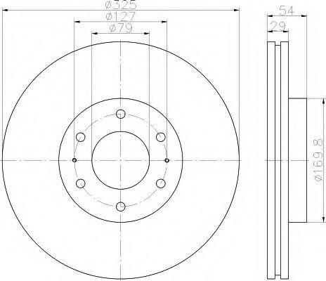 Тормозной диск HELLA 8DD355117021