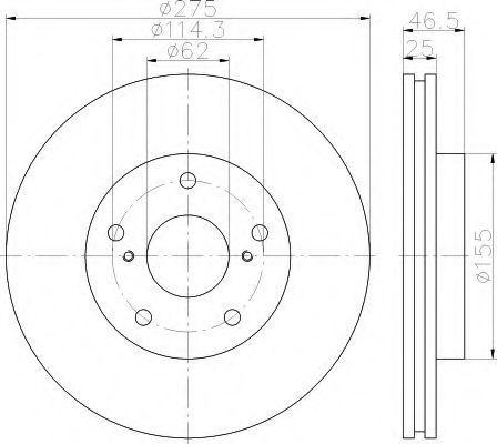 Тормозной диск HELLA 8DD355117361