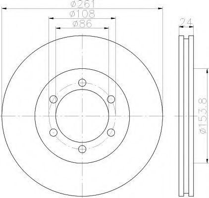 Тормозной диск HELLA 8DD355117401