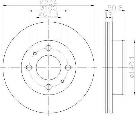 Тормозной диск HELLA 8DD355112761