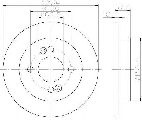 Тормозной диск HELLA 8DD355112801